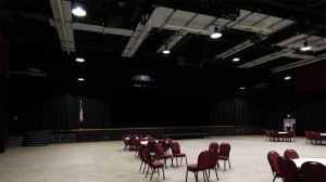 Borini Theater empty at Kings Point Clubhouse, Sun City Center, FL