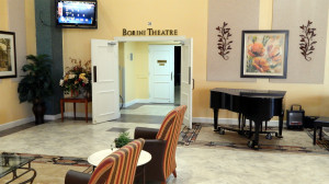 Doors to the Borini Theater in Kings Point, Sun CIty Center, FL