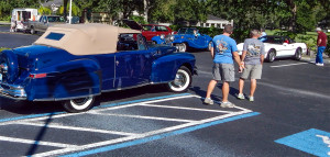 High Roller Car Club puts on car show for Cypress Assisted Living Residence in Sun City Center, Florida