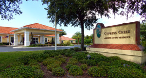 Outside view Cypress Assisted Living Residence Sun City Center FL