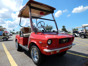 1965 Mustang kit on Club Car golf cart in Sun City Center, FL