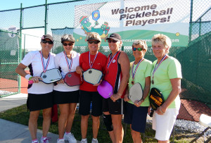 1st Kandy Aker & Diane Reynolds, 2nd Place Patsy & Ruker, Judy Davis, 3rd Place Barb Smith & Tony Teasdale - Pickleball Tampa Bay Senior Games 2013 [DAY ONE: Friday, October 25, 2013]