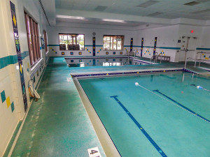 4 ft area of indoor lap pool at South Clubhouse in Kings Point, Sun City Center, FL