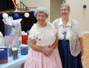 Alma Lang and Leah Micklatcher at Sun City Center Square Dance Club's 45th Anniversary Celebration at Community Hall
