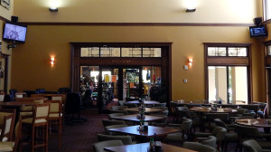 Amicis Restaurant showing double doors of Pro Shop at Club Renaissance in Sun City Center, FL