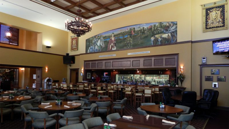 Amici's Restaurant with wooden two story ceilings at Club Renaissance in Sun City Center, FL