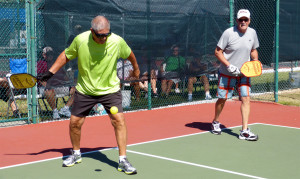 Author Spraintis and John Chilvers from Kings Point win Gold in 70+ Pickleball at Tampa Bay Senior Games 2013 [DAY ONE: Friday, October 25, 2013]