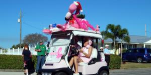 Brighten The Season golf cart at Sun City Center Holiday Golf Cart Parade 2013