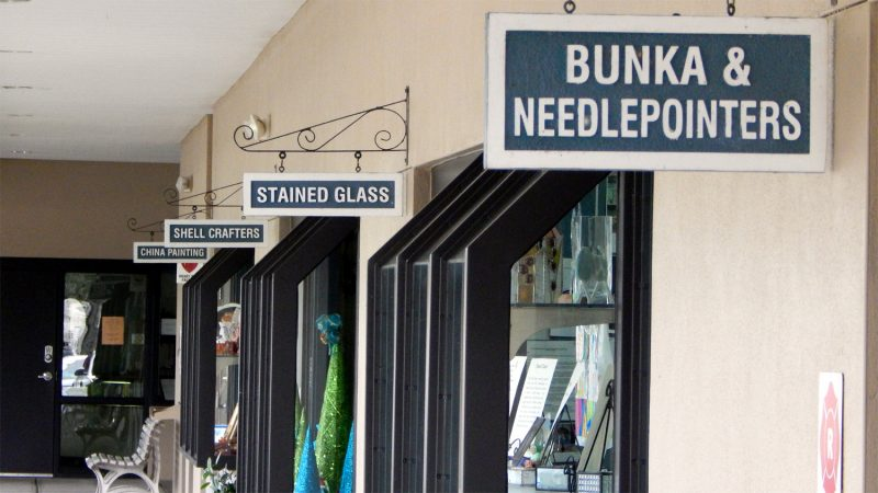 Bunka and NeedlePointers, Stained Glass Shell Crafters and China Painting Sun City Center FL