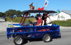 Business category - 2nd Palm Gardens (#808) in Sun City Center Golf Cart Parade 2013