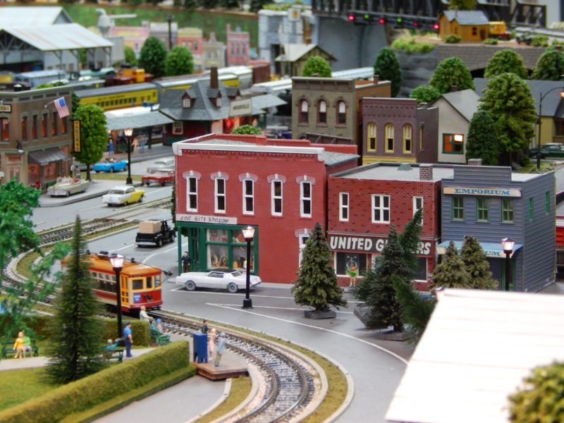 CABLE CAR with train set at Sun CIty Center Model Railroad Club, Sun City Center, FL