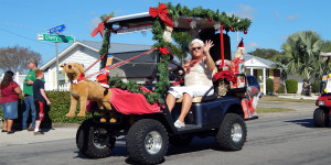 CALOOSA GOLF CLUB in Sun City Center Holiday Golf Cart Parade 2013