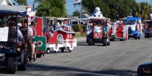 christmas decorated golf carts in sun city center holiday golf cart parade 2013