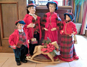 CLUB RENAISSANCE Christmas dolls at front entrance, Sun City Center, Florida