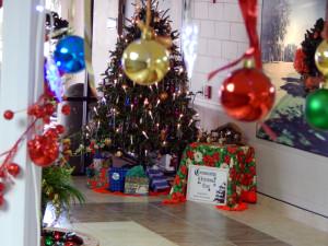 Christmas Tree in Atrium Building Sun City Center, Florida
