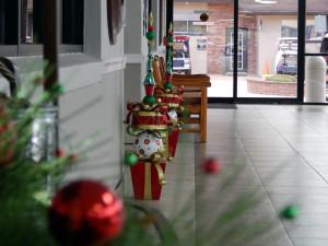 Christmas decorations in Atrium Building in Sun City Center, Florida