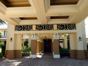 Club Renaissance under portico in Sun City Center, FL