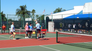 Courts at Pickleball Tournament Tampa Bay Senior Games 2013, Sun City Center