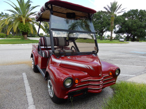 Customized 1950s style Chevy Truck Golf Cart on Club Car Chasis moved to Sun City Center Fl