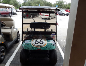 Customized Route 66 E-Z-GO golf cart