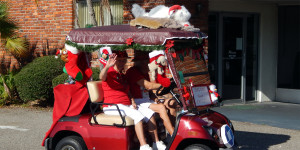 DOG GONE Animal Christmas golf cart in Sun City Center Holiday Golf Cart Parade 2013