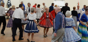 Dancers on floor Sun City Center Square Dance Club's 45th Anniversary Celebration at Community Hall