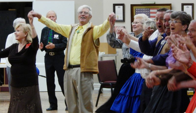 Dancing ends with a yell at Sun City Center Square Dance Club's 45th Anniversary Celebration at Community Hall