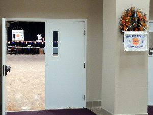 Doors leading into the Community Hall at the Sun City Center Swingers Square Dance Clubs 45th Anniversary