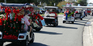 ENDING of the Golf Cart Parade 2013 with carts going home