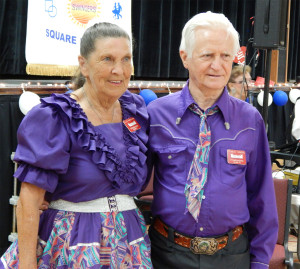 Ellen Nicholson and Stanley Vickers from Palace Promenaders Squard Dance Club, Arcadia, FL at Sun City Center Square Dance Clubs 45th Anniversary Celebration at Community Hall
