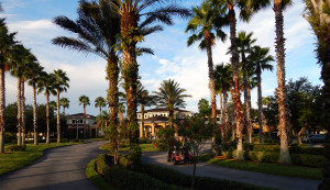 Entering the drive way to the South Club House in the Kings Point neighborhood of Sun City Center, Florida