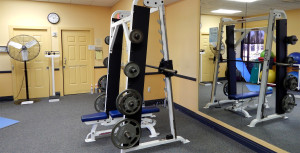 FITNESS CENTER GYM with Smith Machine at Kings Point South Clubhouse on Thanksgiving Day 2013