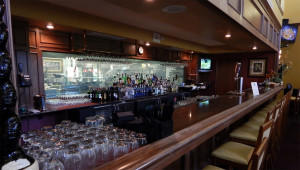 Full bar at Amici's restuarant at Club Renaissance in Sun City Center, FL
