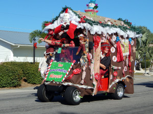 GINGER BREAD HOUSE golf cart in Sun City Center Holiday Golf Cart Parade 2013 1