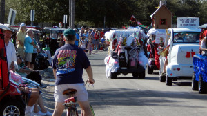 Golf Cart Parade2013 coming to an end on Cherry Hills Dr, Sun City Center