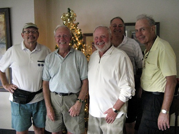 HOGANS GOLF CLUB of Sun City Center & Kings Point > L to R: Chuck Feldschau, Andy Betz, Rich Lucid, Syl Amos, and John Schachte