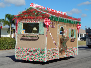 HOUSE Have A Sweet Christmas golf cart in Sun City Center Holiday Golf Cart Parade 2013