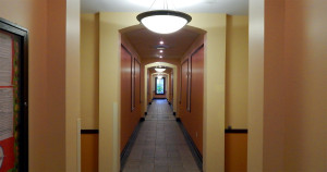 Hallway at Kings Point South Clubhouse in Sun City Center, FL