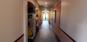 Hallway at the Kings Point South Clubhouse, Sun City Center, Florida