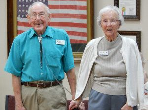 Honoring Earl and Marion Johnston, past president and secretary of Sun City Center Swingers Square Dance Club