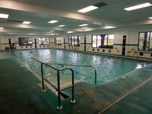 Indoor lap pool at South Club, Kings Point, Sun City Center, Florida
