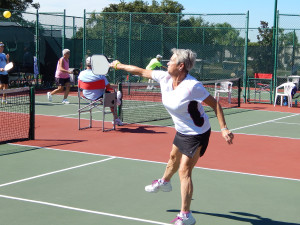 JUMP SHOT Pickleball 65+ Women's Doubles, Tampa Bay Senior Games 2013, Sun City Center, Florida [DAY ONE: Friday, October 25, 2013]