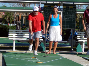 Jim Forgione, President of the Shuffle Board Club of Kings Point, Sun City Center, FL