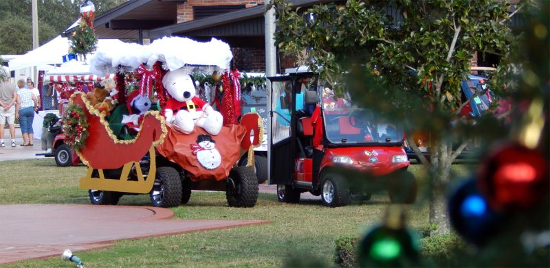 John and Laura O'Conner placed 2nd in Individual category with this As Golf Cart Sleigh on magic sleigh, shopping cart sleigh, car sleigh, replica sleigh, dale earnhardt 3 santa sleigh, customized sleigh, atv sleigh, golf santa rosa beach florida, golf decorating ideas,