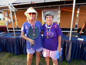 Kings Point residents nedal winners in Womens Pickleball Tournament Tampa Bay Senior Games 2013 Sun City Center