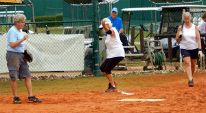 Home plate at LADIES ONE PITCH Softball Tournament on Don Senk field, November 2 2013, Sun City Center, Florida