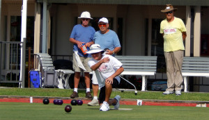 LAWN BOWLING CLUB practicing at Sun City Center Community Association Central Campus, N Pebble Beach Blvd