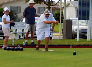 Lawn Bowlers practicing on North Pebble Beach Blvd in Sun City Center, FL