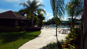 Main Club House pool in gated 55 plus community of Kings Point, Sun City Center, Florida 4