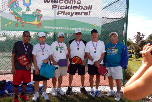 Medal winners Mens Doubles Pickleball Tournament Tampa Bay Senior Games 2013, Sun City Center